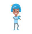 man playing baseball cartoon vector image