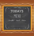 menu written on chalkboard vector image