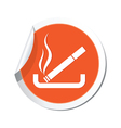 smoking ORANGE LABEL vector image