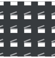 Straight black clapperboard pattern vector image