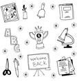 tools schoool in doodle vector image