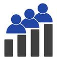 people bar chart flat icon vector image
