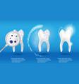 dental health concept set 3d realistic vector image