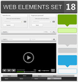 web elements set 18 vector image vector image