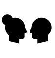 Woman and man profiles vector image