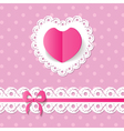 pink background with a heart and a band vector image vector image