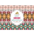 Seamless aztec pattern with geometric elements and vector image vector image