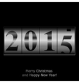 New Year counter in silver design vector image