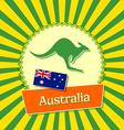 Australian badge vector image vector image