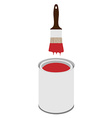 Paint can and paintbrush vector image