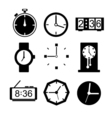 Clock icons set vector image