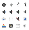Color icon set - audio vector image