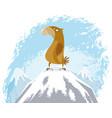 eagle on peak vector image