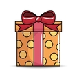 gift birthday present icon vector image