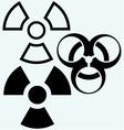 Radioactive and biohazard icon vector image
