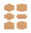 set of wooden sign boards for sales prices vector image