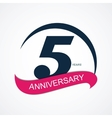 Template Logo 5 Anniversary vector image