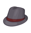 Gray hat icon cartoon style vector image