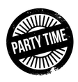 Party time stamp vector image