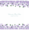 Watercolor delicate purple flowers card vector image