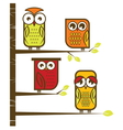 Owl collection vector image vector image