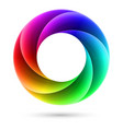 abstract colorful spiral ring on white background vector image