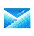 Envelope design with waves vector image vector image