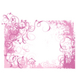 pink grunge vector image vector image