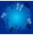 Ecological background with butterflies vector image
