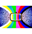 TV card with color table vector image