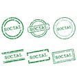 Social stamps vector image vector image