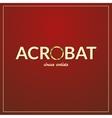 Acrobat logo vector image