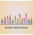Birthday Candles vector image