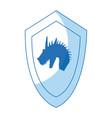 cartoon shield dragon ancient war symbol vector image