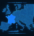 europe abstract map france vector image