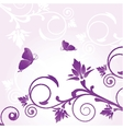 Floral card with butterfly vector image