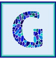 G - letter - Green Watercolor mosaic vector image