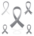 gray silver sign ribbon cancer symbol vector image