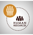 Human resources design people icon employee vector image