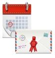 Loose-leaf Calendar With Closed Envelope vector image