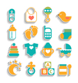 Set of baby icons isolated on a white background vector image