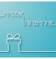 Silhouette of text and giftbox on a light blue vector image