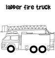 Ladder fire truck vector image