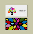 business card design with art tree vector image vector image