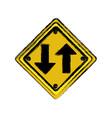 Emblem warning notice icon vector image