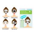 woman facial sheet masks design templates package vector image