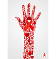 Hand AIDS symbol vector image