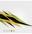 Colorful abstract technology lightning shapes vector image