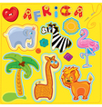africa for kids 380 vector image vector image
