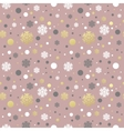 Christmas pink seamless pattern with golden white vector image